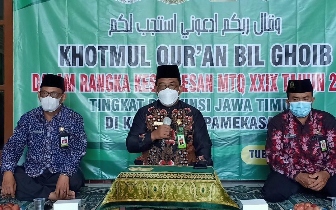 Kemenag, Pemda dan LPTQ Kabupaten Tuban Gelar Khotmul Qur'an bil Ghoib untuk Sukseskan MTQ Jatim 2021